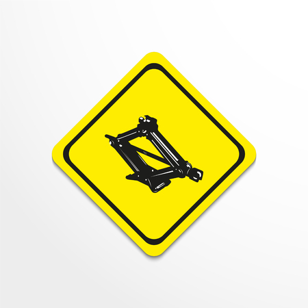 Car Jack. Vector illustration.