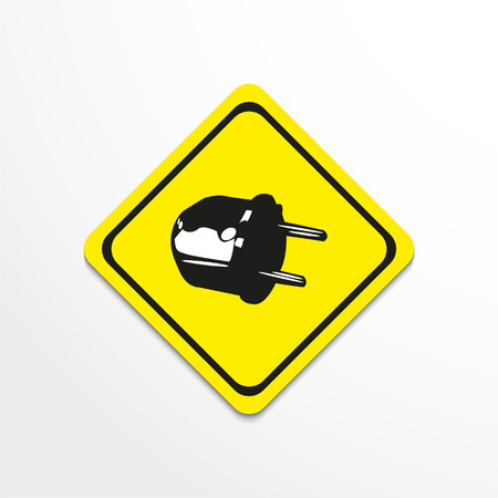 umbilical: Electrical plug. Vector illustration.