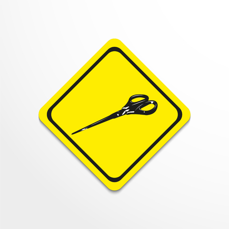 Scissors. Vector illustration.