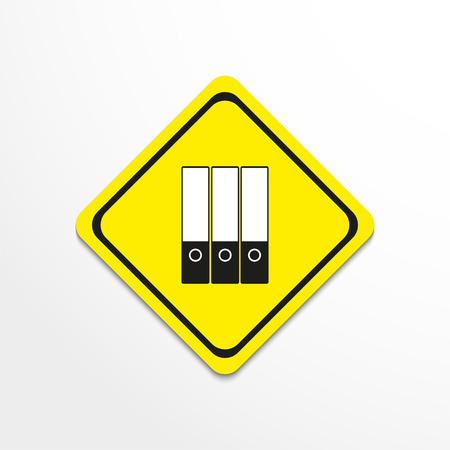 Document folders. Vector icon. Ilustração