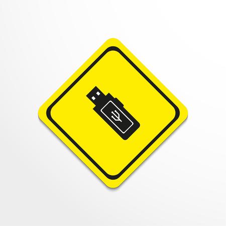 availability: Portable data carrier. Vector icon. Illustration