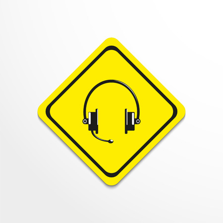 telemarketer: Headset. Vector icon.