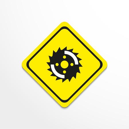 saw blade: Disc circular saw. Vector icon. Illustration