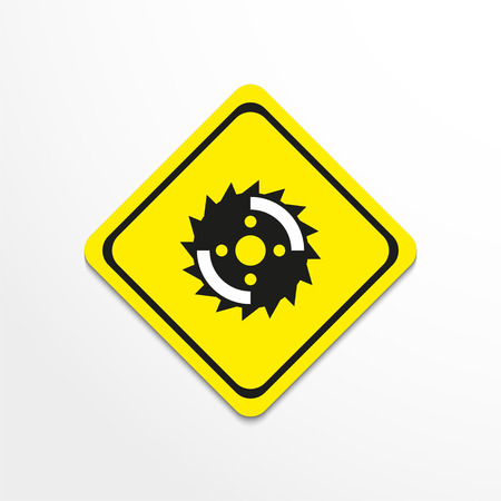 Disc circular saw. Vector icon. Illustration