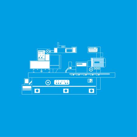 Industrial equipment. Machine. Vector icon.
