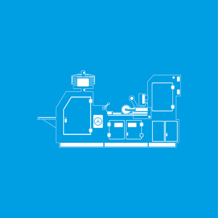 Industrial equipment. Machine. Vector icon.