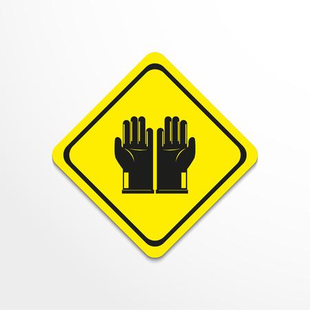 Gloves. Symbol. Vector icon. Illustration
