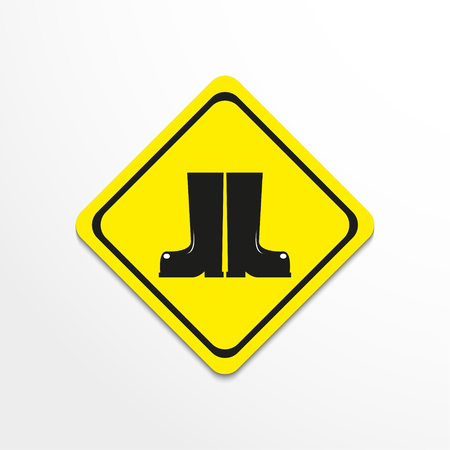 Boots. Symbol. Vector icon. Illustration