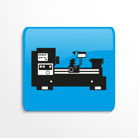 Industrial production equipment vector