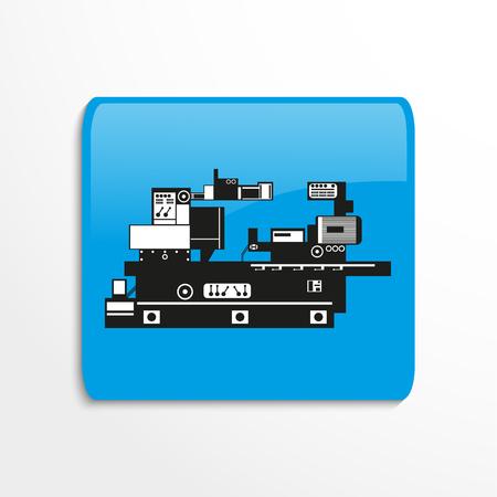 Icono de vector de equipo de producción industrial