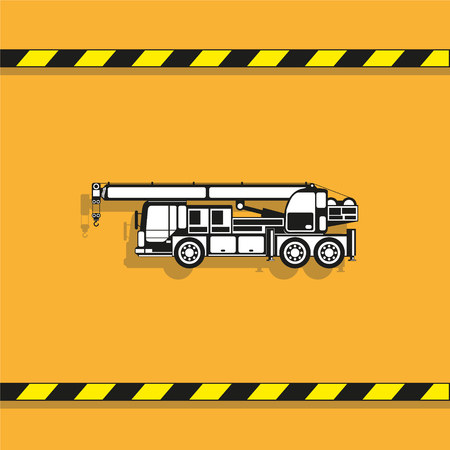 Heavy crane. Vector icon.