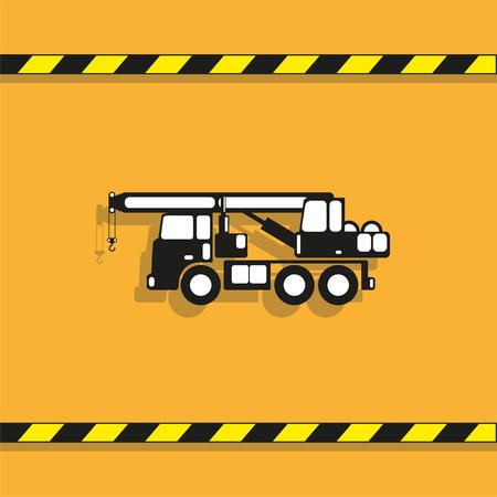 Heavy crane. Vector icon.