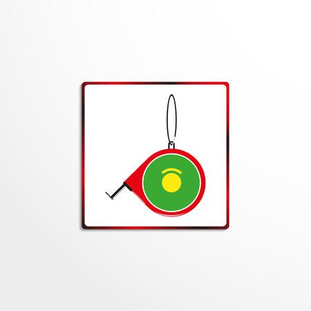 Building Measuring Roulette. Vector icon.
