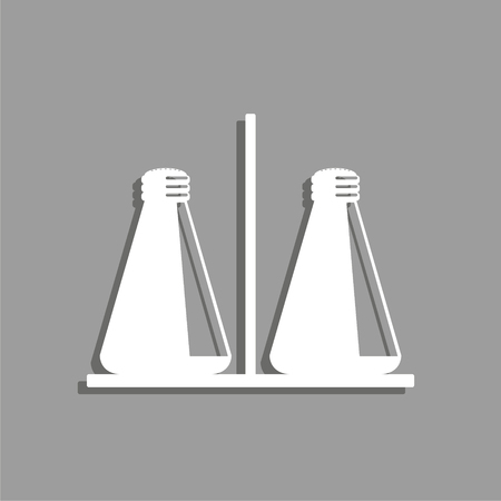 Salt and pepper shaker. Vector icon.