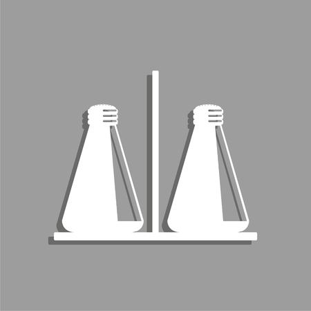Salt and pepper shaker. Vector icon.