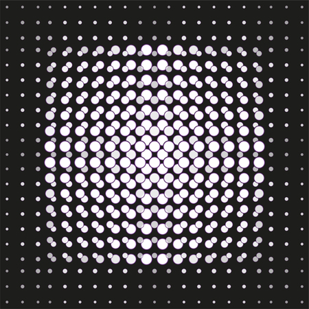 Light round spots on a dark surface. Abstract composition, background. Vector illustration. Illustration