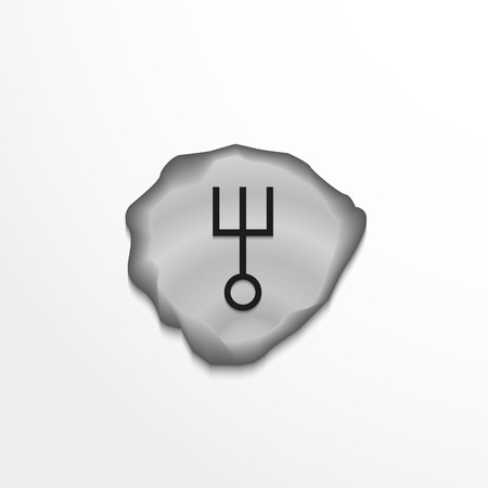 Ancient rune on the stone. Vector illustration. Stock Illustratie