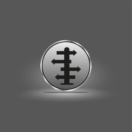 Direction indicators. Vector icon. Archivio Fotografico - 110334309