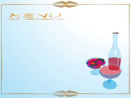 Page menu in the restaurant. Vector illustration. Ilustracja