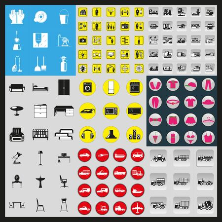 Mega set of vector icons of different subjects.