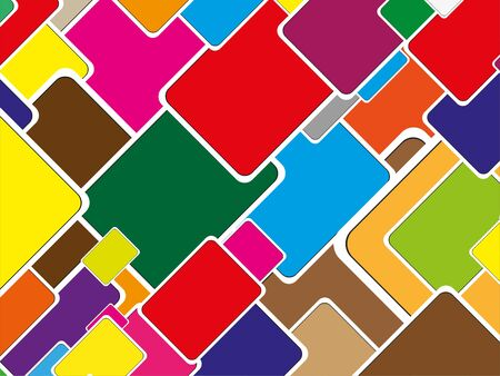 Abstract composition with colorful elements. Color vector illustration.