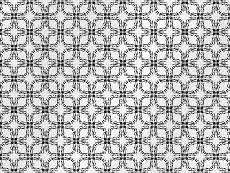 Decorative pattern on a gray fabric. Vector illustration. Vettoriali
