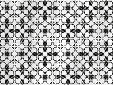 Decorative pattern on a gray fabric. Vector illustration.