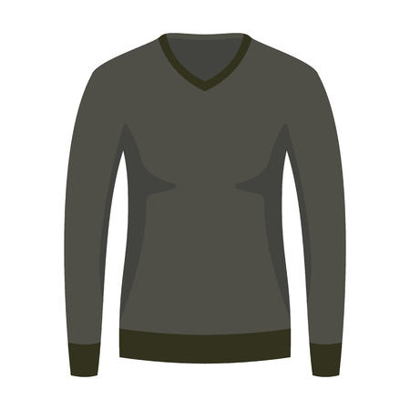 Beautiful hand-drawn colored icon of a sweater in white background