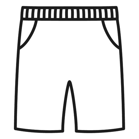 Beautiful hand-drawn outlined icon of a men's pants in white background Banque d'images - 123582443
