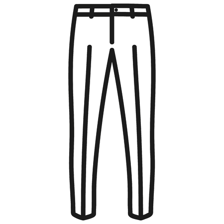 Beautiful hand-drawn outlined icon of a men's pants in white background Banque d'images - 123582447
