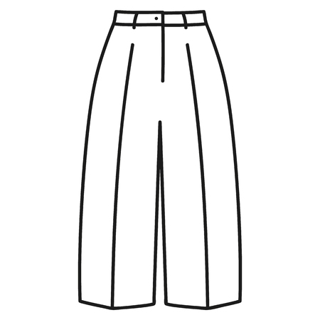 Beautiful hand-drawn outlined icon of a men's pants in white background Banque d'images - 123516937