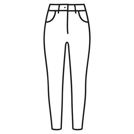 Beautiful hand-drawn outlined icon of a men's pants in white background Banque d'images - 123516939