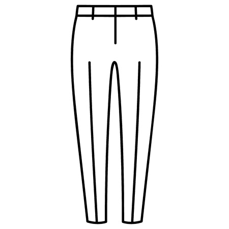Beautiful hand-drawn outlined icon of a men's pants in white background Banque d'images - 123516941