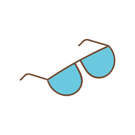 Beautiful hand-drawn icon of a colorful bright sunglasses Illustration