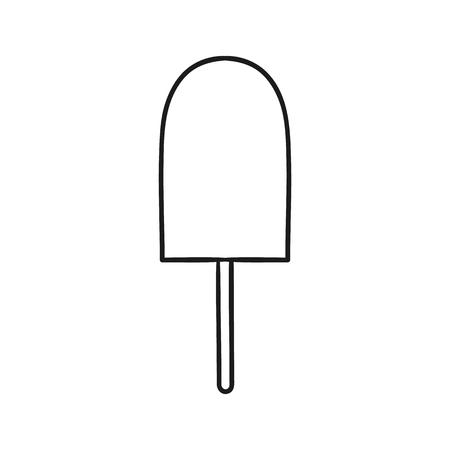 Beautiful hand-drawn outlined icon of an ice lolly