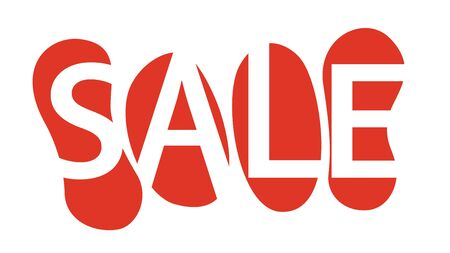 Colorful vector sale sign, banner for a store advertisment or for an online shop
