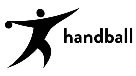 Vector icon of a handball player throwing a ball