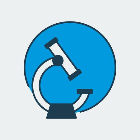 Vector icon of an electron microscope. It represents laboratory research, scientific discoveries and medical studies