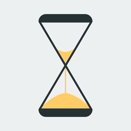 Vector icon of an hourglass. It represents a concept of time management, timer, countdown, schedule. Vektoros illusztráció