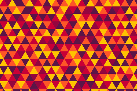 burgundy: Vector retro triangle pattern, five hot colors