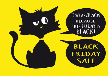 One black cynical kitten.