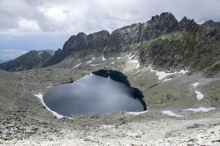 Furkot valley hiking trail in High Tatras, Soliasko, Slovakia, summer touristic season, wild nature, touristic trail, Stock Photo
