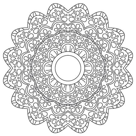 Vector illustration of a black and white floral background Vektorové ilustrace