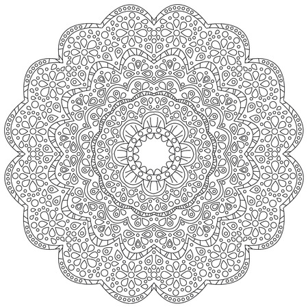 Vector illustration of a black and white floral background