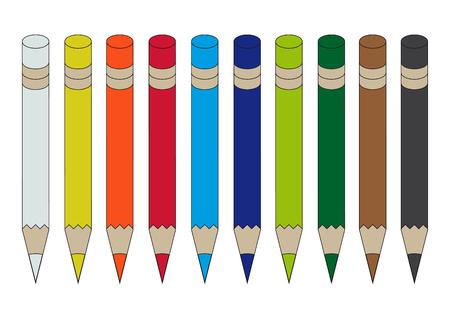 Set of colored pencils symbol icon design vector illustration