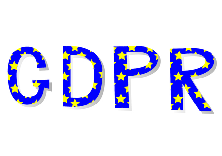 GDPR - General Data Protection Regulation, word abbreviation