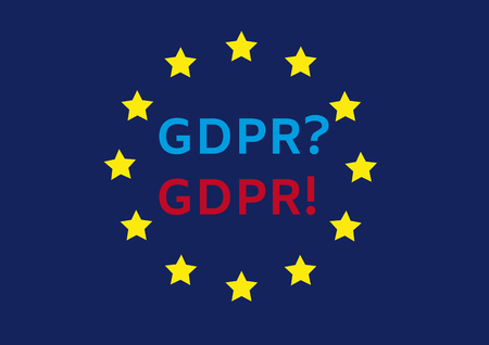 GDPR Word abbreviation Иллюстрация