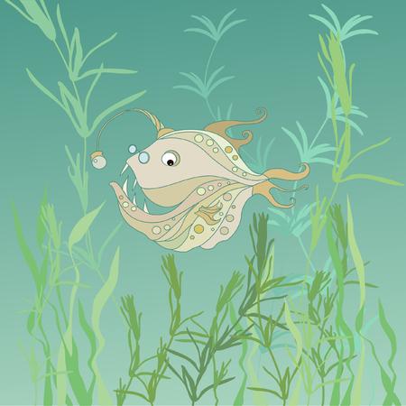 rotund: Illustration with fish%u0152