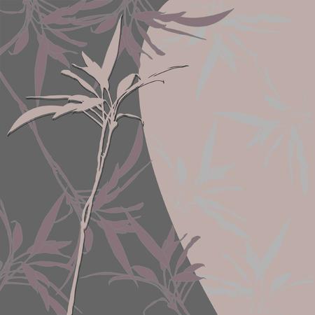 a sprig: floral background with sprig and leaf for your design Illustration