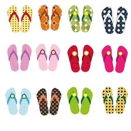 Funky flip-flops photo